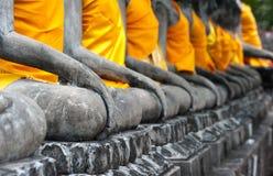 Het standbeeld van Boedha in Ayutthaya Stock Foto