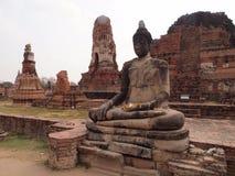 Het standbeeld van Boedha in Ayutthaya Stock Fotografie