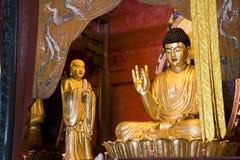 Het Standbeeld van Boedha bij Chinese Tempel Royalty-vrije Stock Afbeelding