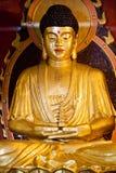 Het Standbeeld van Boedha bij Chinese Tempel Royalty-vrije Stock Foto's