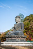 Het standbeeld van Boedha bij Shinheungsa-Tempel, Seoraksan, Korea Royalty-vrije Stock Foto's