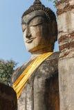 Het Standbeeld van Boedha bij Wat Pra Khaeo Kamphaeng Phet-Provincie, Thailand Royalty-vrije Stock Fotografie