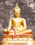 Het standbeeld van Boedha binnen boeddhistische tempel Royalty-vrije Stock Afbeelding