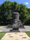 Het Standbeeld van Boedha in Borobudur, Java Stock Foto's