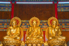 Het standbeeld van Boedha in Chinees Stock Afbeelding