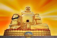 Het standbeeld van Boedha in Chinese tempel Stock Foto's