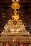 Het Standbeeld van Boedha in de Belangrijkste Zaal in Wat Pho in Bangkok Royalty-vrije Stock Foto's
