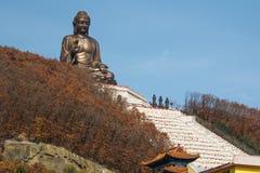 Het standbeeld van Boedha in de Chinese tempel van Jing Royalty-vrije Stock Foto