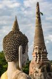 Het Standbeeld van Boedha, de Provincie van Wat Yai Chai Mongkhon In Ayutthaya stock afbeeldingen