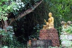 Het standbeeld van Boedha in de tuin Royalty-vrije Stock Foto
