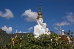 Het standbeeld van Boedha in de zoon van watphra keaw Royalty-vrije Stock Foto