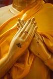Het standbeeld van Boedha dient Vajrapradama Mudra in Stock Foto's