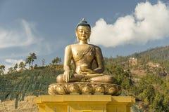 Het standbeeld van Boedha Dordenma in Thimphu Bhutan Royalty-vrije Stock Foto