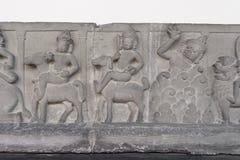 Het standbeeld van Boedha en Bodhisattvas-, Khmer kunst in museum Royalty-vrije Stock Foto