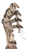 Het standbeeld van Boedha en van de cobra Royalty-vrije Stock Foto's