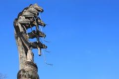 Het standbeeld van Boedha en van de slang Stock Afbeeldingen