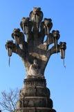 Het standbeeld van Boedha en van de slang Stock Fotografie