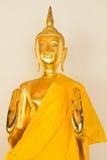 Het standbeeld van Boedha, Gouden Boedha in Tempel Stock Afbeelding