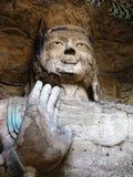 Het standbeeld van Boedha in Grotten Yungang Royalty-vrije Stock Foto's