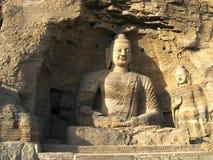 Het standbeeld van Boedha in Grotten Yungang Royalty-vrije Stock Afbeeldingen