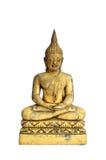 Het standbeeld van Boedha isoleert op witte achtergrond Stock Afbeelding
