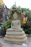 Het standbeeld van Boedha met naga Stock Afbeelding