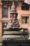 Het standbeeld van Boedha op de straten van Katmandu, Nepal royalty-vrije stock afbeelding