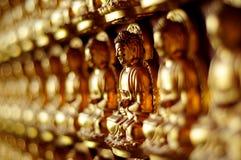 Het Standbeeld van Boedha op muur Stock Fotografie