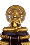 Het standbeeld van Boedha op witte achtergrond Stock Afbeelding
