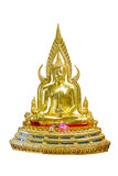Het standbeeld van Boedha op witte achtergrond Stock Afbeeldingen
