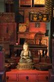 Het standbeeld van Boedha in opslag. stock foto's