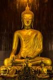Het standbeeld van Boedha in Pan Tao Temple dat in Chiang Mai, Thailand wordt gevestigd Royalty-vrije Stock Afbeeldingen