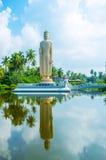 Het standbeeld van Boedha in Peraliya Royalty-vrije Stock Foto