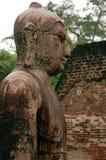 Het standbeeld van Boedha in Polonnaruwa Stock Foto