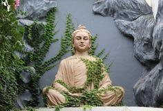 Het standbeeld van Boedha in Rishikesh, India Stock Fotografie