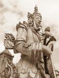 Het standbeeld van Boedha in sepia toon Stock Fotografie