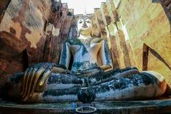 Het standbeeld van Boedha in Sukhothai Stock Foto