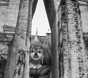 Het Standbeeld van Boedha in Sukhothai, Thailand Stock Fotografie