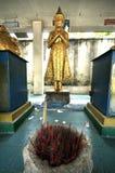 Het standbeeld van Boedha tegen Royalty-vrije Stock Afbeelding