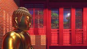 Het standbeeld van Boedha in tempel Royalty-vrije Stock Fotografie