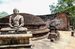 Het Standbeeld van Boedha in Tempel in Polonnaruwa, Sri Lanka Stock Fotografie