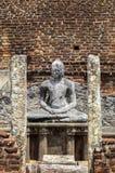 Het Standbeeld van Boedha in Tempel in Polonnaruwa, Sri Lanka Stock Foto