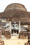 Het Standbeeld van Boedha in Tempel in Polonnaruwa, Sri Lanka Royalty-vrije Stock Foto
