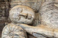 Het Standbeeld van Boedha in Tempel in Polonnaruwa, Sri Lanka Stock Afbeelding