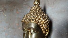 Het standbeeld van Boedha in Thailand stock footage