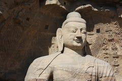Het standbeeld van Boedha van de glimlach Stock Afbeelding
