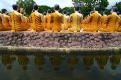 Het standbeeld van Boedha van de steen Stock Fotografie