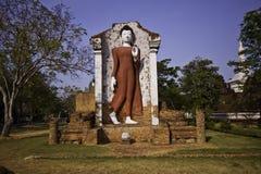 Het standbeeld van Boedha van de steen Stock Afbeeldingen