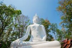 Het standbeeld van Boedha in Wat Analayo Thipphayaram Stock Fotografie