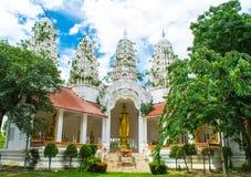 Het standbeeld van Boedha in Wat Mahathat Stock Foto